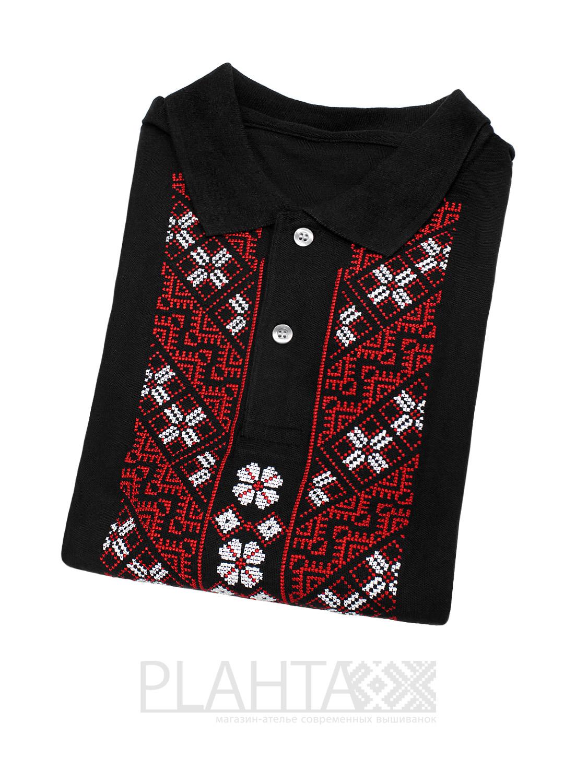 Чорна трикотажна вишиванка - Plahta - магазин-ательє сучасних вишиванок 46b6dfa8b49a8