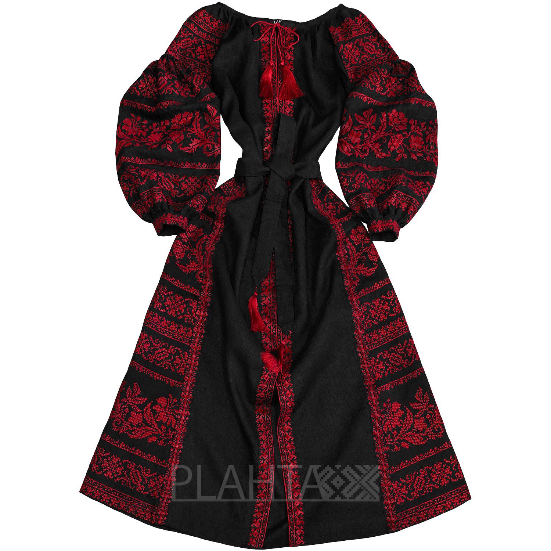 Довга чорна сукня