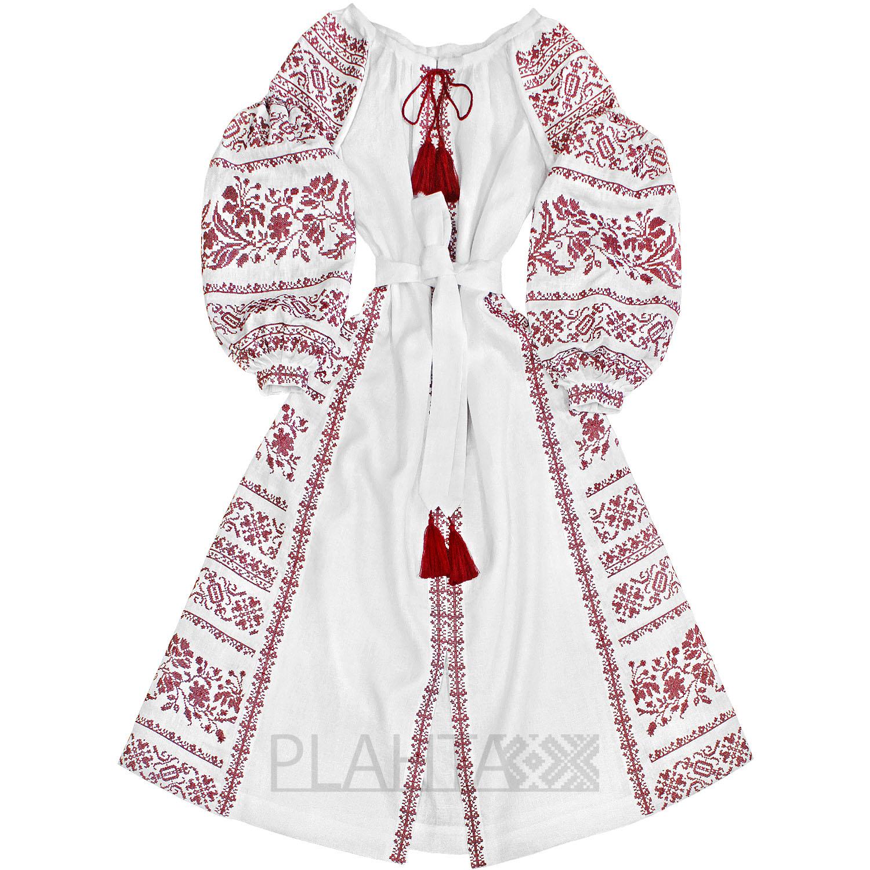 Довга біла сукня