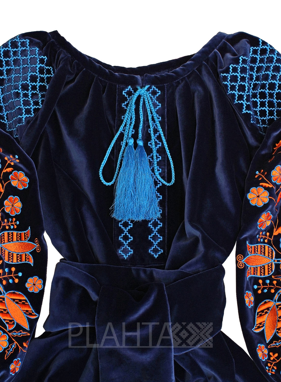 54761d6756cd2f Оксамитова сукня з вишивкою