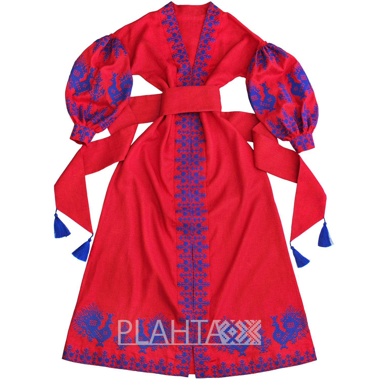 Довга сукня з вишивкою